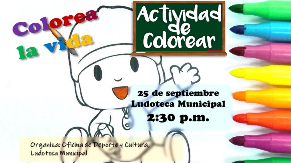 Actividad de Colorear \'Colorea la vida\' - Alcaldía Municipal de ...